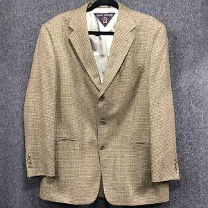 Tommy Hilfiger brown tweed blazer - men's 42R